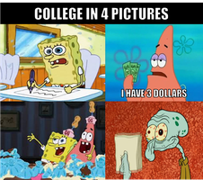 College in 4 pictures by onyxcarmine