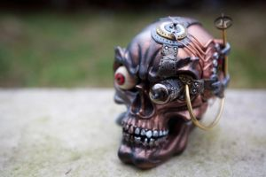 steampunk Industrial Skull - Right Quarter by Devilish--Designs