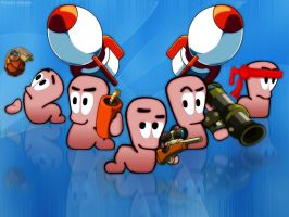 Worms wallpaper by Conorstubbsy