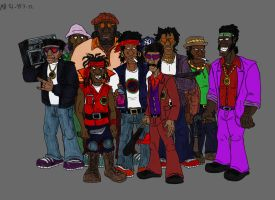 The Black Fist gang in the 80's by Mara999