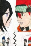 Rukia and Lavi Lovers Quarrel by LaceLilyMay