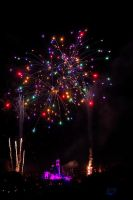 Firework at Disneyland by esee