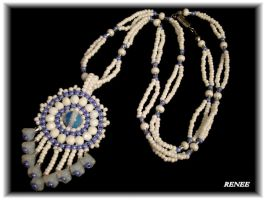 Moonstone indian necklace by jasmin7