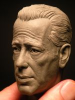 Humphrey Bogart 1/4 scale sculpey work in progress by jesserubin