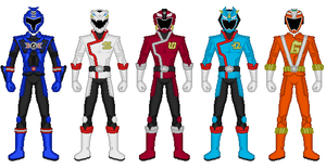 RPM Lost Series Rangers by heavenlymythicranger