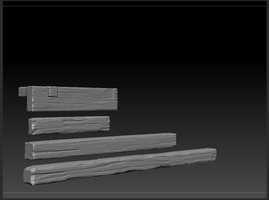 Wooden beams sculpt by zodthenosferatu