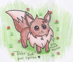 Baby Eevee by Evoli-niceli