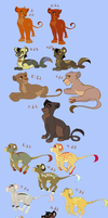 Leftover adoptable SALE by Kitchiki