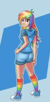 Human Rainbow Dash by saymanhd