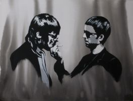 Liam and Noel Gallagher by Ace-McGuire