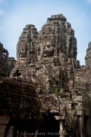Bayon temple exterior by static-sidhe