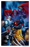 Marvel comics Art in color- by Sandoval-Art