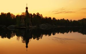 Church on the River by SwaEgo