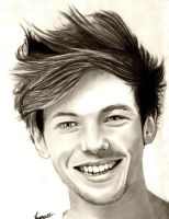 Louis Tomlinson One direction drawing by manueee