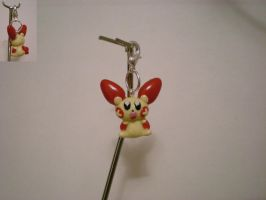 Comission: Shiny Plusle charm by Foureyedalien