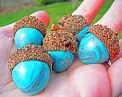Turquoise Claycorns by MaryBunnie