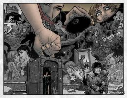 Locke And Key 06 pg22-23 color by GabrielRodriguez