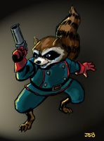 Rocket Racoon by sirandal