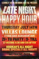 Late Night Happy Hour Flyer by V1sualPoetry