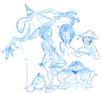 Yokai doods. by SLB-CreationS