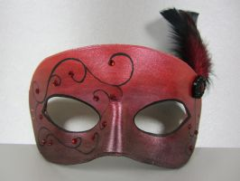 Red masquerade mask by maskedzone