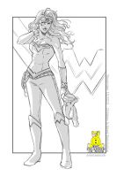 Children in need sketch - wonder woman by emmav