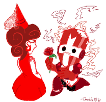 Red Medieval love_sketch_ by Doodlz18