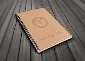 Free Spiral Book Mockup by Designslots
