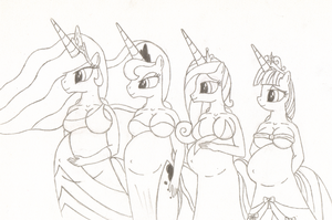 Pregnant Princesses by 20thX5150