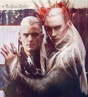 Legolas and Thranduil by AnnaProvidence