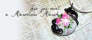say hello to March by motemanikabeads