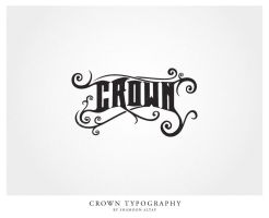 Crown Typography by shamoonaltaf