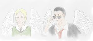 Good Omens sketch by Roksik