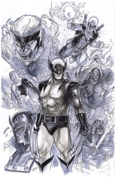 wolverine and friends by Peter-v-Nguyen