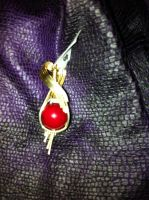 red coral ball pendant by DPBJewelry