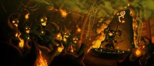 Insidious Imps Igniting Idols by TravJames