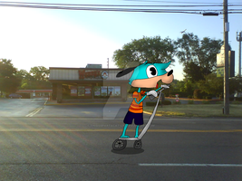 Flippy on a segway by thisisspartacat1230