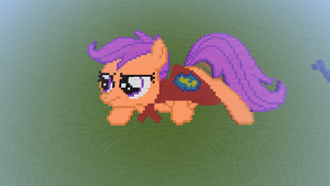MLP: FiM - MC Pixel Art - Scootaloo by Pixel8edBrony