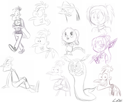 small sketch dump (mostly Doof) by Leibi97