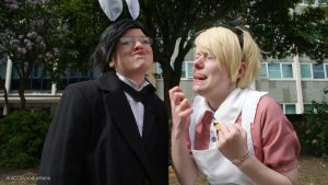 Claude and Alois, tongue tied by dotCOSProductions