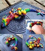 Rainbow Dragon Pet Bracelet by altaiira
