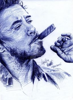Robert Downey Jr. BAllpoint Pen Result by AngelinaBenedetti