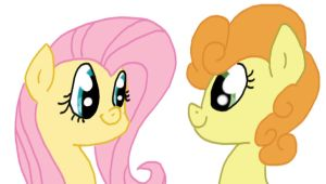 Fluttershy and Carrot Top by chocoqueen112
