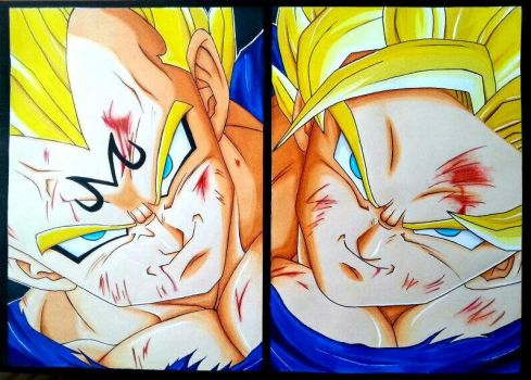 Dragon Ball Drawing Goku SSJ3 vs Kid Buu  YouTube