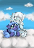 Snowdrop And Filly Luna by BlazeHart96