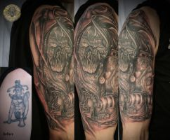 viking ship cover up by 2Face-Tattoo
