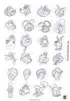 Hanna Barbera heads by celaoxxx