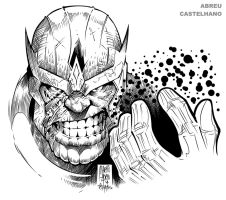 THANOS (ink) by johncastelhano