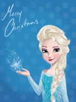 Elsa Christmas Card by Airadelle