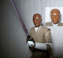 Black Series Mace Windu paint fix by lovefistfury